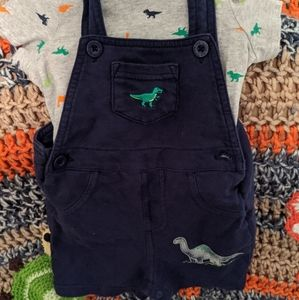 Dinosaur overall out fit size 12 months